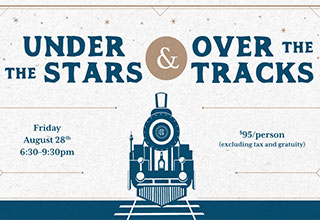 Under the Stars, Over the Tracks event poster